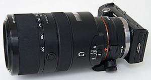 NEX-5 screwed to 70-300mm